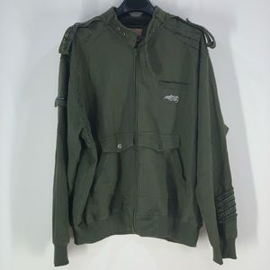 Ruthless Art Green Military Style Jacket.